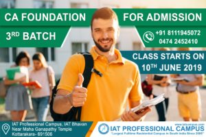 CA Foundation Third Batch 2019