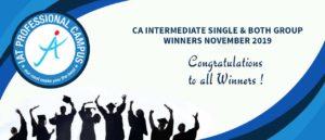 CA Intermediate Single & Both Group Result Nov 2019