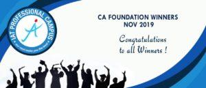 CA Foundation Result November 2019