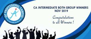 CA Intermediate Both Group Result Nov 2019