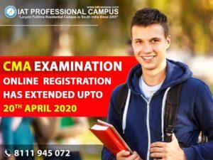 CMA Examination Online Registration Extended