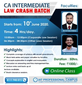 CA Intermediate Law Crash Online