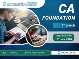 CA Foundation 1st Batch- Online Class